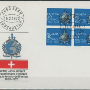 1973 FDC Viererblock Interpol 522